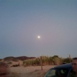 Full moon over Barstow... Raffi got a great shot of it rising as the sky.