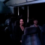 On the bus with Tina D'Marco.